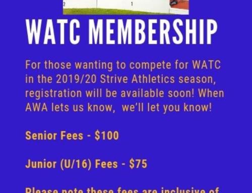 WATC 2019/20 Membership